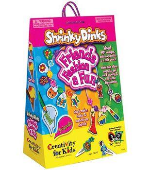 Creativity for Kids Kit-Shrinky Dinks Friends, Fashion & Fun