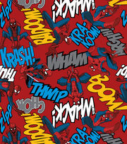 Marvel Spiderman Editorial Fleece Fabric, , hi-res