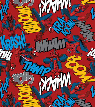 Marvel Spiderman Editorial Fleece Fabric
