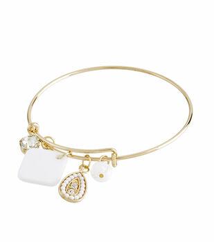 Finished Bracelet Modern White - Gold