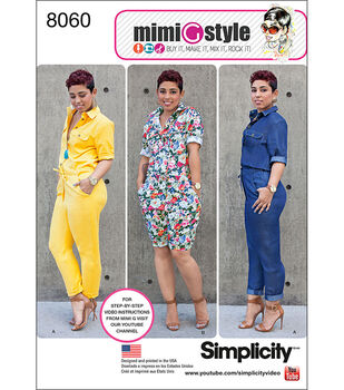 Simplicity Misses' Jumpsuits From Mimi G Style-6-8-10-12-14
