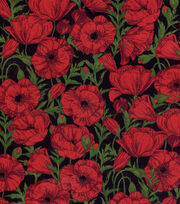 Keepsake Calico™ Cotton Fabric-Poppies Lg, , hi-res