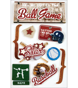 Paper House 3D Stickers-Baseball