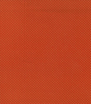 Autumn Inspirations Pin Dot Rust Metallic Fabric