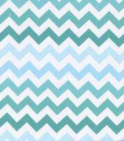 Keepsake Calico™ Cotton Fabric-Blue Ombre Chevron, , hi-res