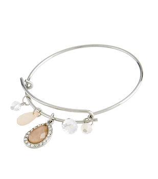 Finished Bracelet Tear Stone Drop - Silver