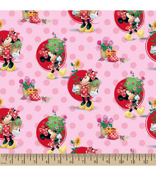 Disney® Minnie Mouse Smell The Flowers Cotton Fabric