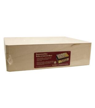 Walnut Hollow Basswood Box-12''x3.25''x9''/Hinged Box
