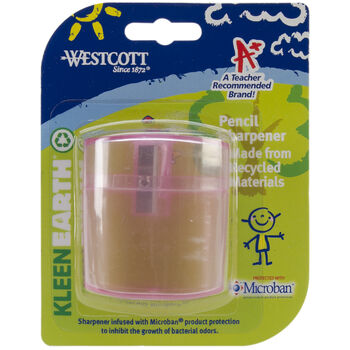 Kids KleanEarth Pencil Sharpener W/Microban-Assorted Colors