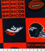 Denver Broncos NFL Block Fleece Fabric by Fabric Traditions, , hi-res