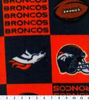 Denver Broncos NFL Block Fleece Fabricby Fabric Traditions, , hi-res