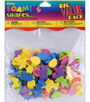 Darice Foam Shapes 180/Pkg-Bugs & Blossoms