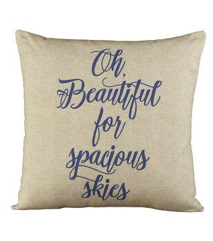Sea to Shining Sea Oh Beautiful Pillow