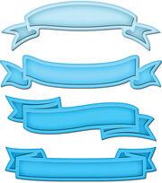Spellbinders Shapeabilities Dies Ribbon Banners, , hi-res