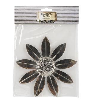 Salvaged Tin Sunflower Metal Sheet