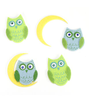 Felt Stickers Owls
