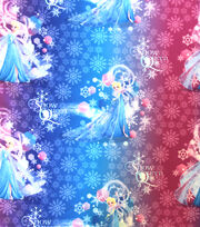 Disney Frozen Elsa Snow Queen Ombre Twill Fabric, , hi-res