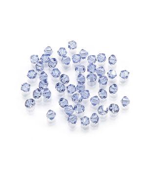Swarovski™ Faceted Bicone Crystal Beads, Lt. Sapphire, 4mm, 48pc/pkg