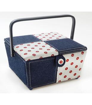 Sewing Basket-Square Denim Bandanna