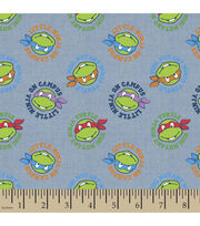 Teenage Mutant Ninja Turtles Badge Toss Chambray Fabric, , hi-res