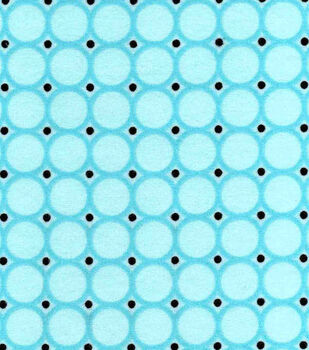 Snuggle Flannel Fabric-Blue Radiance Circles
