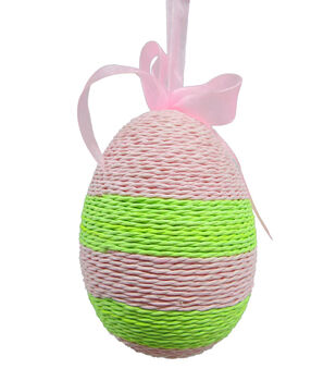 Easter Paper Egg Ornament-Pink/Green
