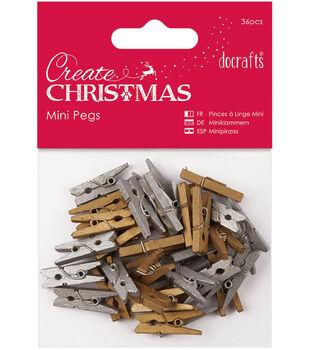 Papermania 36ct Create Christmas Mini Pegs