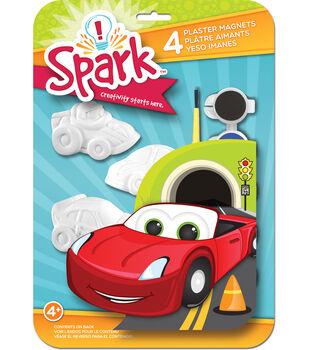 You Paint It Plaster Magnet Kits-Cars