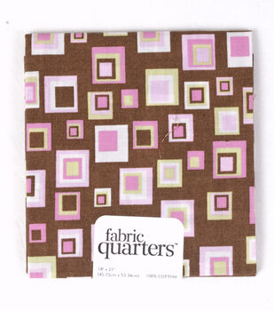 Quarters Cotton Fabric-Assorted Brown