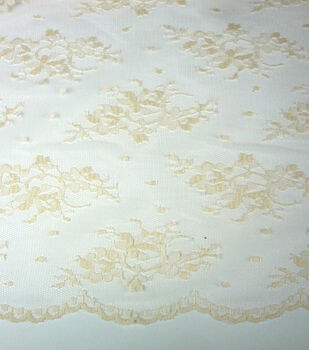 Casa Collection Fabric-Chantilly Lace Eggnog