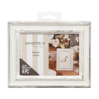 35 x 5 whitewash frames pack of 4