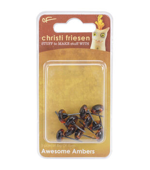 Great Create 10pcs 9mm Christi Friesen Glass Eyes-Awesome Amber