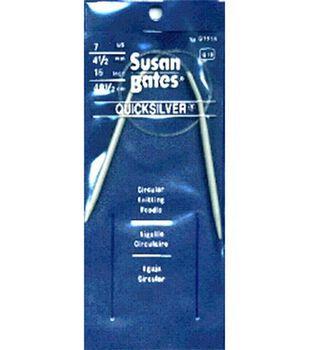 "Susan Bates Quicksilver Circular Knitting Needles 16""-Size 7"
