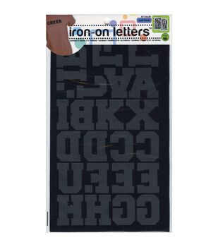 Dritz 1.5'' Fuzzy Touch Iron On Letters Athletic
