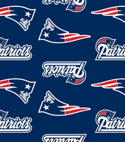 New England Patriots NFL Ultra Fluffy Fleece Fabric by Fabric Traditions, , hi-res