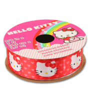 Hello Kitty Valentines Ribbon-Red Ribbon w/ Hearts, , hi-res