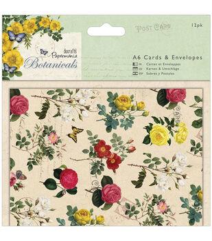 Papermania Botanicals Cards/Envelopes A6 12/Pkg-