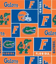 University of Florida NCAA Block Fleece Fabric, , hi-res