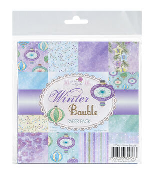 Wild Rose Studio 36ct 6''x6'' Paper Pack-Winter Bauble