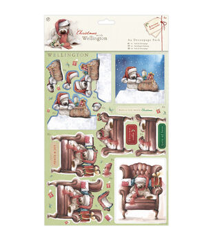 Docrafts Christmas With Wellington A4 Decoupage Pack-Chair
