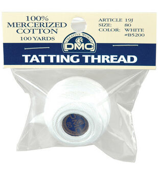 Packaged Brilliant Tatting Cotton Size 80 100 Yards-White