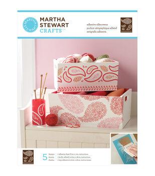 "Martha Stewart Adhesive Silkscreen 8-1/2""X11"" 1 Sheet/Pkg-Floral Paisley 5 Designs"