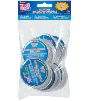 "Darice Design-A-Button 2-1/2""-Clear Plastic 12/Pkg"