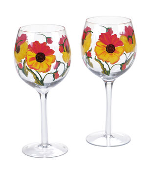 Susan Winget Stemmed Wine Glasses-Set Of 2