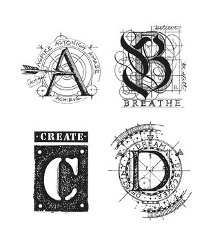 Stampers Anonymous Rubber Stamp Set Classics #14