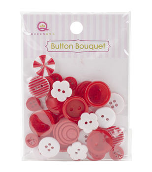 Queen & Co Button Bouquet Assorted Color, Size & Shaped Buttons