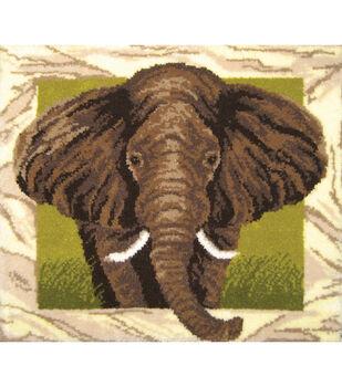 "Latch Hook Kit 44""X40""-Elephant Portrait"