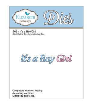 Elizabeth Craft Designs It's A Boy/Girl Metal Die
