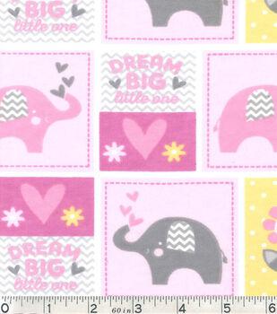 Nursery Flannel Fabric-Dream Big Patch