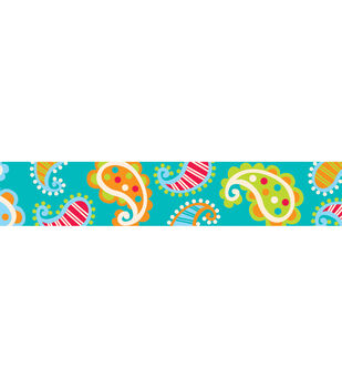Dots-On-Turquoise Collection: Paisley On Turquoise Border